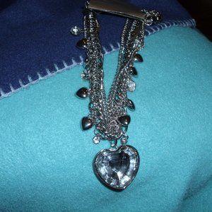 necklace silver tone